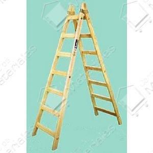 Escalera doble madera pintor 4 escalones centro de for Escaleras de madera para pintor precios
