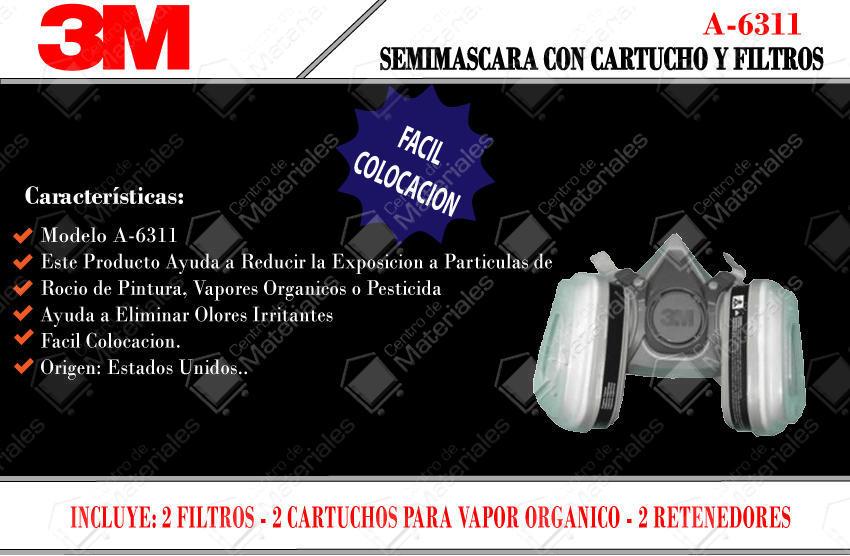 81e9c1878b3fa 3m Semi Mascara Respirador Con 2 Filtros 6311 - Centro de Materiales