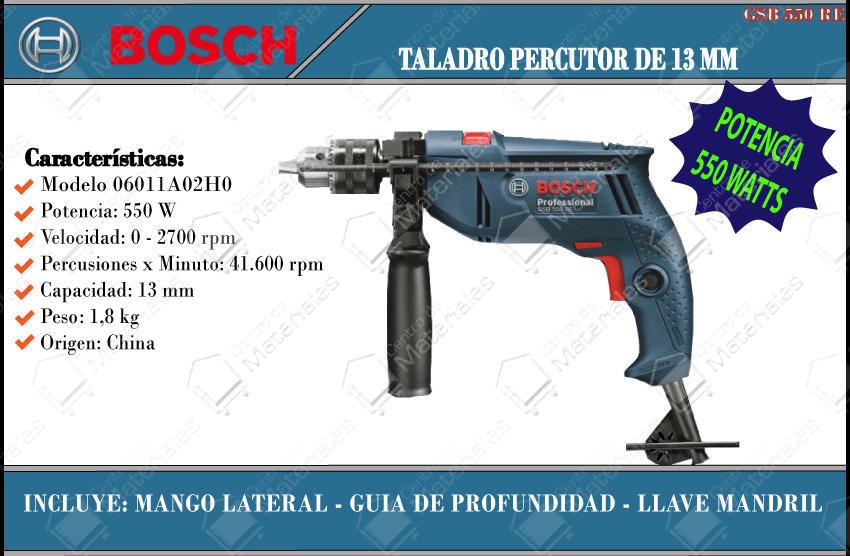 Bosch Taladro Percutor 550 W. 13 Mm Gsb 550 Re - Centro de ...