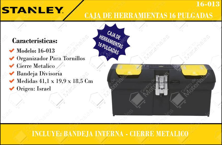 c8340b04e Caja Herramientas Stanley 16'' - Centro de Materiales