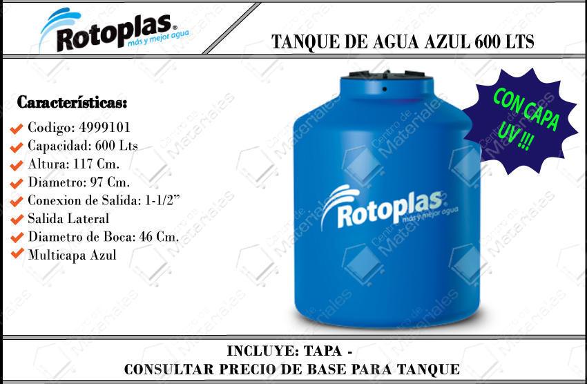 Tanque rotoplas domic azul 600 lts d a for Tanque de agua rotoplas